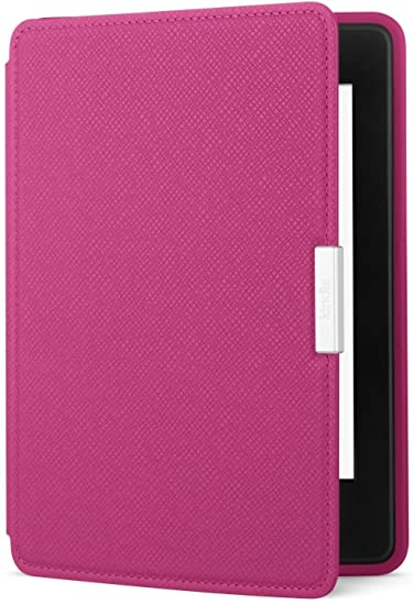 Amazon Kindle Paperwhite Leather Case, Ink Fuchsia - fits all Paperwhite generations prior to 2018 (Will not fit All-new Paperwhite 10th generation)