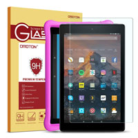 OMOTON Screen Protector for Fire HD 10 / Fire HD 10 Kids Edition 9th and 7th Generation (2019 and 2017 Release), Tempered Glass/HD / 9H Hardness