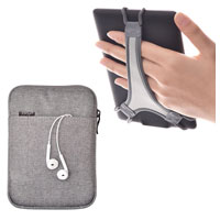 TFY E-Reader Protective Pouch Bag with Zip Closure, Plus Bonus Hand Strap Holder for 6 inch e-Readers