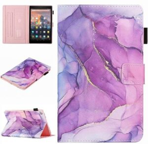 AKHIOK Fire HD 10 Case (9th Generation), Purple Marble