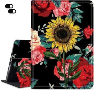 Dikoer Fire HD 8 Case (10th Generation), Rose Sunflower