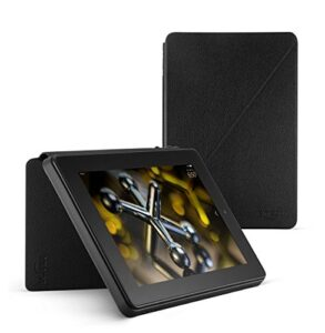 Standing Leather Case for Kindle Fire HD 7 (4th Generation), Black